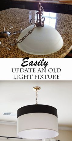 All of the lights in our new home are basic builder's grade fixtures. They aren't anything special, so we've been slowly changing them out one by one. Being on a budget, it's going to take a while t