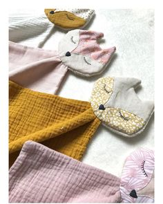 "Hellocotton on Instagram: ""Couleurs d'été 🌸 . . #bebe #baby #doudou #faitmain #madewithlove #madeinfrance #homemade #couture #coutureaddict #couturebebe #creation…"""