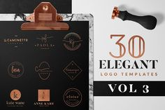 Elegant Logo Pack VOL 1 by Graphic Dash on I have the pleasure to present the Volume of the Elegant Logo pack Collection. This Pack Includes 30 Ready Made Vector Logos that you can modify as you want to create some stunning designs. Business Illustration, Pencil Illustration, Design Blog, Art Design, Laura Lee, Branding Design, Logo Design, Graphic Design, Logos Ideas