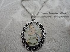 Peter Rabbit genuine 1971 bookfragment amulet by Scrollbeads, on Etsy for only €11.95 <3