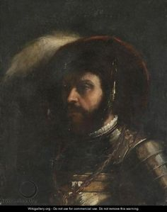 Head Of A Soldier - (after) Tiziano Vecellio (Titian)