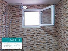 Instalación de ventana abatible GLA 40x20 con tapajuntas incorporado y vidrio carglass.Avd. Velazquez (Málaga) 06/05/2016