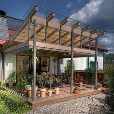 Terrassenverglasung und Terrrassenüberdachung mit Selbstreinigungseffekt im Raum Kronach