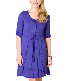 Look what I found on #zulily! Astra Blue Sorcha Scoop Neck Dress by Yest #zulilyfinds