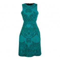 Vestido de renda esmeralda Bo.Bô