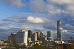 The beautiful Oklahoma City Skyline.