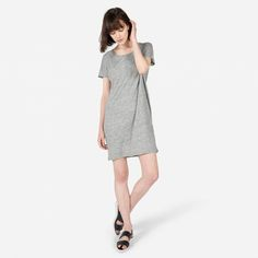 The Linen Dolman Tee Dress - Everlane