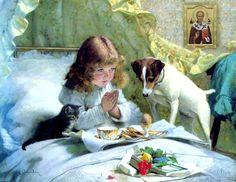 Der Mensch betet für die mit, die er liebt.