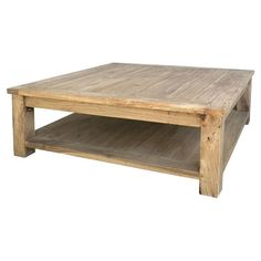 Great Birch Wood Coffee Table With A Bottom Shelf. Product: Coffee  TableConstruction Material: Birch