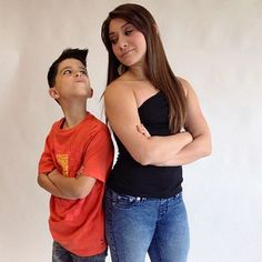 Dance Moms Miami Lucas and Jessi during a photo shoot.
