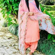Designer Punjabi Suits, Indian Designer Wear, Kimono Top, Peach, How To Wear, Tops, Women, Fashion, Moda