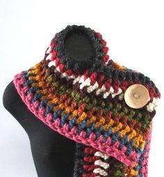 scarf cachecol colorido crochet
