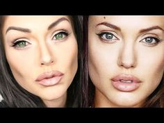 Angelina Jolie Makeup Transformation Tutorial - YouTube
