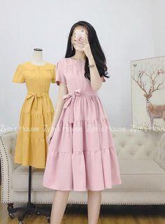 Cute Modest Outfits, Cute Casual Dresses, Korean Girl Fashion, Muslim Fashion, Girls Fashion Clothes, Fashion Dresses, Chifon Dress, Dresses Kids Girl, Stunning Dresses