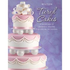 Wilton Tiered Cakes Book Cake Decoration Presentation for sale online Cake Decorating Books, Wilton Cake Decorating, Cake Decorating Supplies, Decorating Ideas, Decor Ideas, Gift Ideas, Beautiful Wedding Cakes, Beautiful Cakes, Amazing Cakes