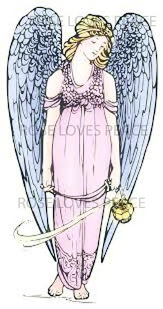 Digital DownloadPrintable Angel with Blue Wings by roselovespeace
