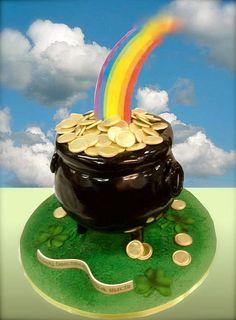 pot o' gold cake by debbiedoescakes, via Flickr