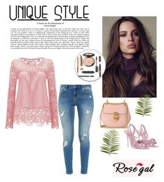 """""""How to style a lace blouse"""" by zerina913 ❤ liked on Polyvore featuring Ted Baker, Chloé, Sophia Webster, Pier 1 Imports and rosegal"""