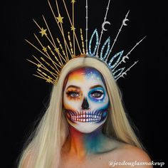 Fx Makeup, Skull Makeup, Fantasy Make Up, Creative Makeup Looks, Special Effects Makeup, Halloween Makeup Looks, Christmas Makeup, Costume Makeup, Makeup Inspiration