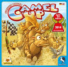 Camel Up Board Game, WANT! quirky dice rolling game (with an upside down pyramid). you gather in the desert with one simple goal: to gain the most money by backing the right camel to win a race. 2-8 player game.