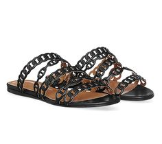 Nude Hermes ladies' sandal in Nappa calfskin, hazelnut leather lining