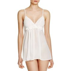 In Bloom by Jonquil Carey Chiffon Babydoll Chemise ($27) ❤ liked on Polyvore featuring intimates, chemises, ivory, babydoll chemise, in bloom by jonquil, chiffon chemise and baby doll chemise