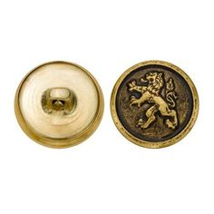 C&C Metal Products 5280 Chinese Lion Metal Button, Size 30 Ligne, Antique Gold, in Crafts, Sewing & Fabric, Sewing | eBay