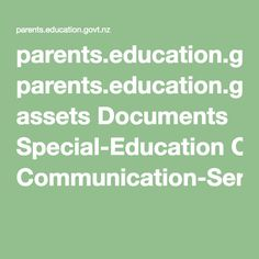 This is a great reference for parents who want to find out more about the main services available to children in the primary and intermediate years, based on their special education needs. It is also a good resource for teachers so that they have clarity and a shared understanding around the services offered, particularly if parents come to them with questions around support options and eligibility.