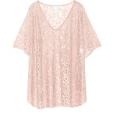 Melissa Odabash - Ignes Stretch-lace Coverup ($189) ❤ liked on Polyvore featuring swimwear, cover-ups, tops, antique rose, bathing suits bikini, kaftan beach cover up, swimsuit cover ups, bikini bathing suits and swim suit cover up
