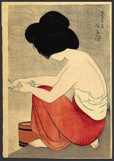 The Art of Japan - After the bath - Shinsui Ito - Japanese Woodblock print, Woodblock print