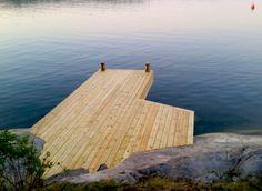 Brygga / Jetty in Lindalsundet, Värmdö - Stockholm's Archipelago. Built by Red Mount AB - janis@redmount.se - for Sjöliv AB