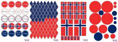 17. mai pynt (gratis print) Sons Of Norway, Norway Viking, Diy And Crafts, Arts And Crafts, Constitution Day, Teaching Art, Holidays And Events, Art School, Kids Rugs
