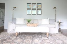 Relaxing living room makeover with BHG Live Better gallery wall