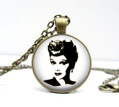 Lucille+Ball+Necklace+Glass+Art+Pendant+Picture+by+Lizabettas,+$14.00