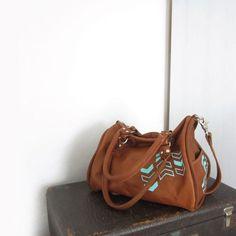 leather satchel bag - chevron - by stitchandswash, $225.00