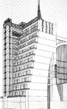 Antonio Sant'Elia, casa a gradinata. Fonte: Sica, Storia dell'Urbanistica, il Novecento, Laterza Periodo: 1913 www.esteticadellacitta.it