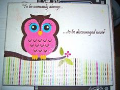 Owl and the symphony quote canvas!