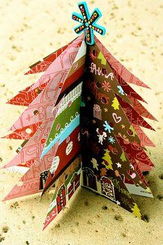 homemade christmas tree. great idea!