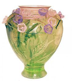 Cherry Blossom vase by Daum Crystal