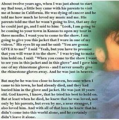 I felt so touched and proud when I read this for the first time... Michael Jackson always had a Heart of Gold.. ♡
