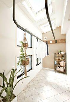 the perfect house Minimal House Design, Drying Room, Laundry Room Design, Laundry Area, Paint Colors For Living Room, Small House Plans, Küchen Design, Model Homes, Interior Design Inspiration