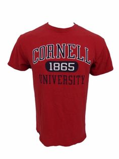 Cornell University Shirt Size M Established 1865 Ithaca NY Ivy League Red #Jansport #GraphicTee
