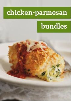Chicken-Parmesan Bundles – Chicken Parmesan is even more delicious when it's turned inside out and wrapped around a melty cheese center.