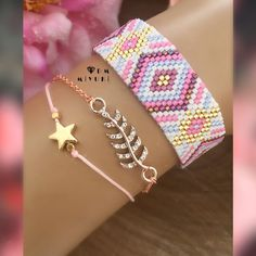 Seed Bead Jewelry, Boho Jewelry, Beaded Jewelry, Herringbone Necklace, Peyote Stitch Patterns, Bead Loom Bracelets, Loom Beading, Bead Weaving, Like4like