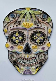 Unknown artist- Quilled skull pictures (Searched by Châu Khang)
