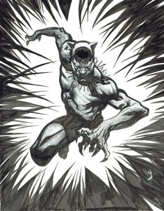 Black Panther Commission by Geoff Shaw Comic Art
