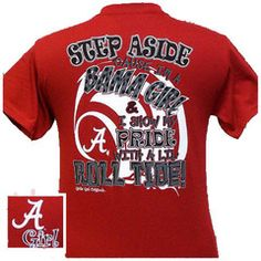 Alabama Crimson Tide My Pride Bright Girlie Girl T Shirt | SimplyCuteTees