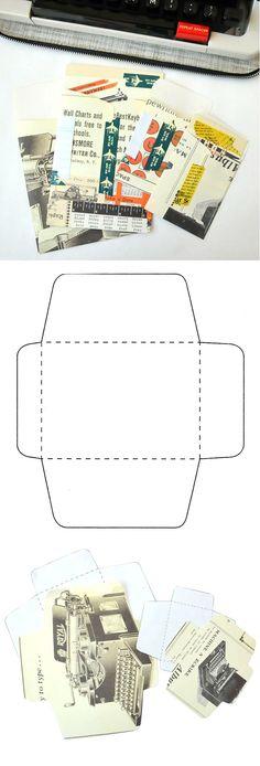 Handmade Envelopes (free template)