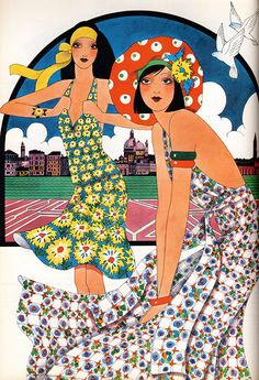 Inspired By: Vintage Fashion Illustrations | JohnnyWas.com Blog - Caroline Smith, Harper's and Queen Magazine, 1972