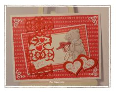 Valentine card with Fiskars AdvantEdge and heart shaped Squeeze punches. Made by Ambassador Piia Takalo Giving Hands, I Card, Heart Shapes, Punch, Scrap, My Love, Frame, Projects, How To Make
